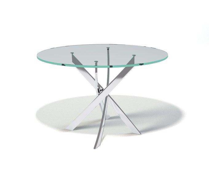 Стол обеденный Aves со столешницей из прозрачного стекла