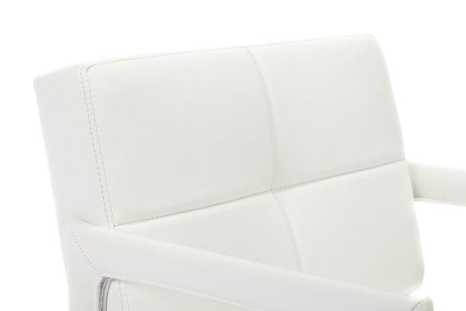 Кресло Aster Chair Белая Кожа