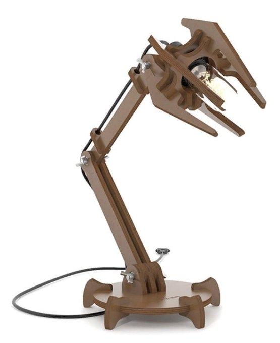 Настольная лампа Focus коричневого цвета