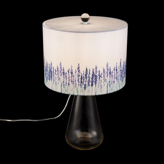 Настольная лампа Lavender с абажуром белого цвета