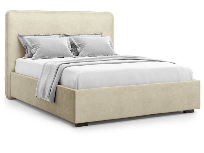 Кровать Brachano 160х200 бежевого цвета с подъемным механизмом