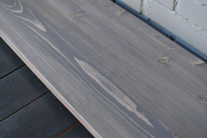 Напольная вешалка Loft Pine Gray с двумя полками из массива сосны