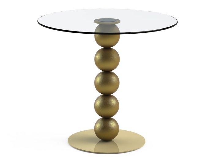 """Обеденный стол """"BLINTER Gold"""" с круглой столешницей из закаленного стекла"""
