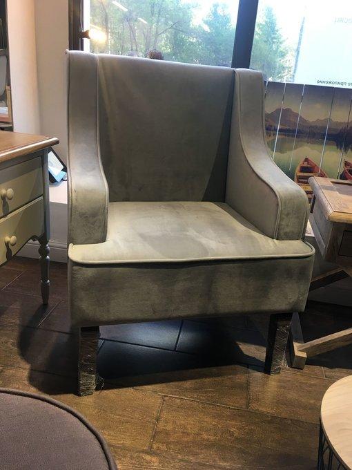 Кресло Эрнест серого цвета