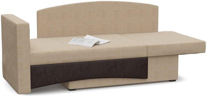 Диван-кровать Принц Корфу бежево-коричневого цвета