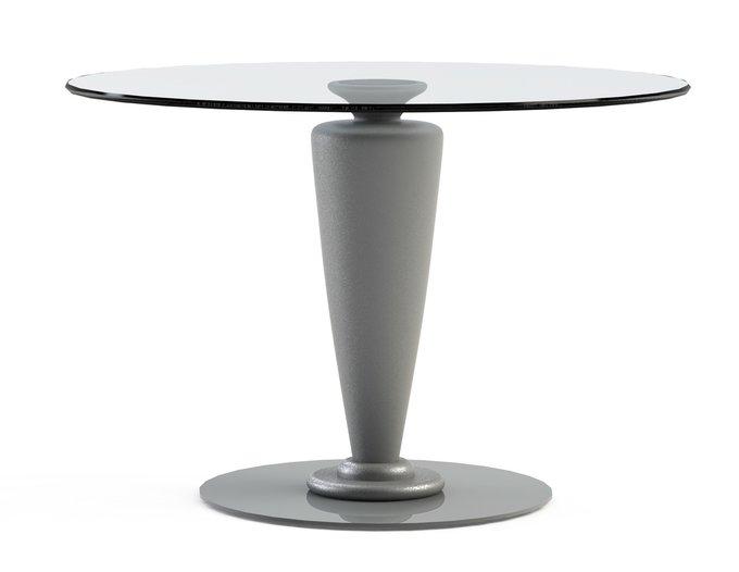 """Обеденный стол """"ABREGO Silver"""" со столешницей из закаленного стекла"""