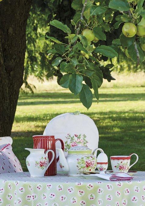 Чайник round Mary white из фарфора