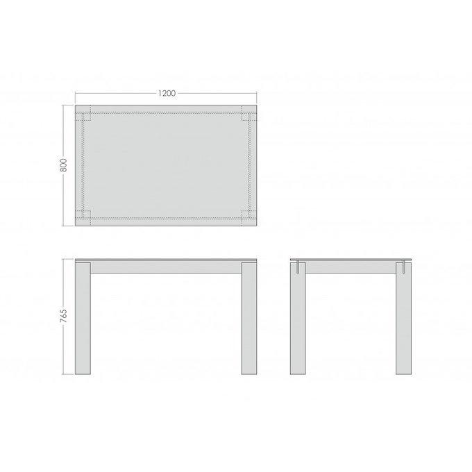 Стол обеденный со стеклянной столешницей