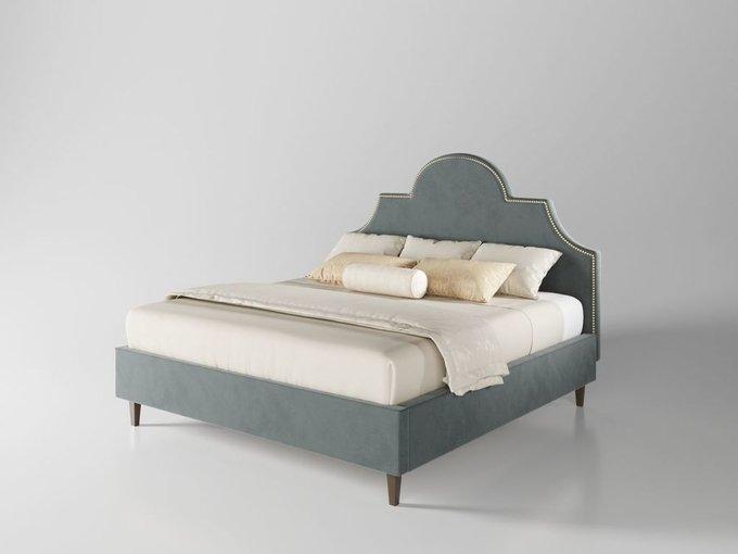 Кровать Бриэль 160х200 серого цвета  с подъемным механизмом