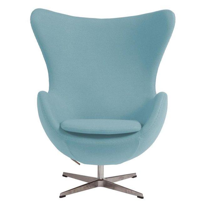 Кресло Egg Chair голубого цвета
