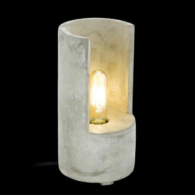 Настольная лампа Lynton серого цвета