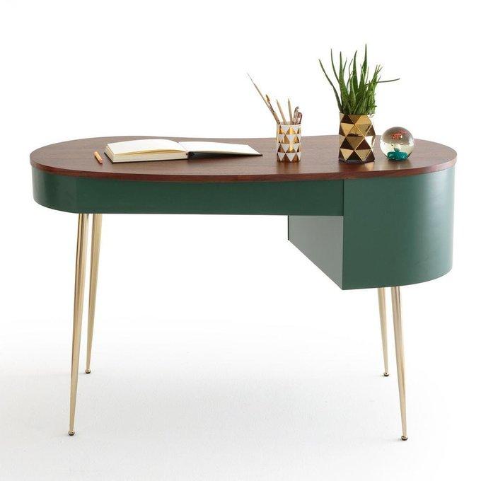 Письменный стол Topim в форме фасоли зеленого цвета