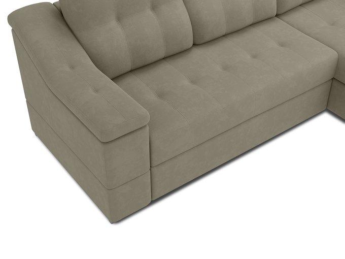 Угловой диван-кровать Liverpol бежево-серого цвета