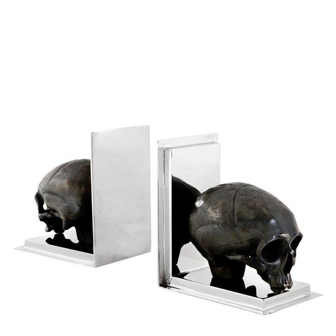 Держатели для книг Bookend Skull Eichholtz из полированной нержавеющей стали