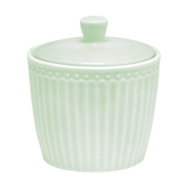 Сахарница Alice pale green из фарфора
