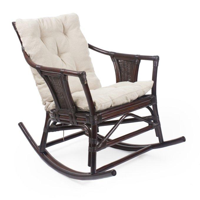 Кресло-качалка Canary с подушкой орех