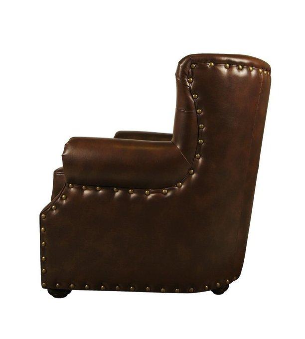 Мягкое кожанное кресло Люкс в кабинет