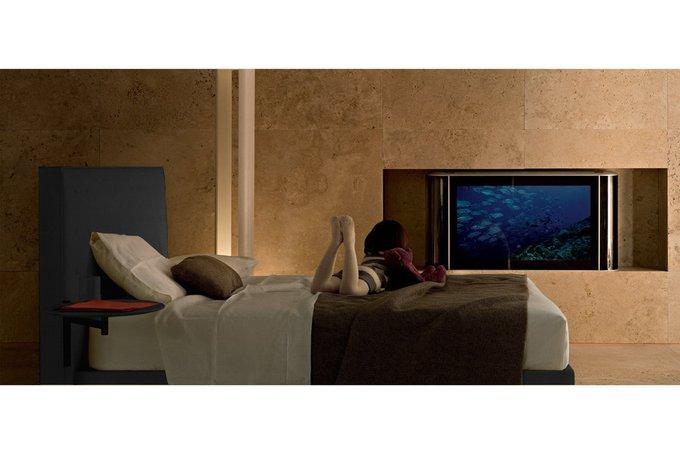 Кровать Knoff Grande Тёмно-серый 180х200