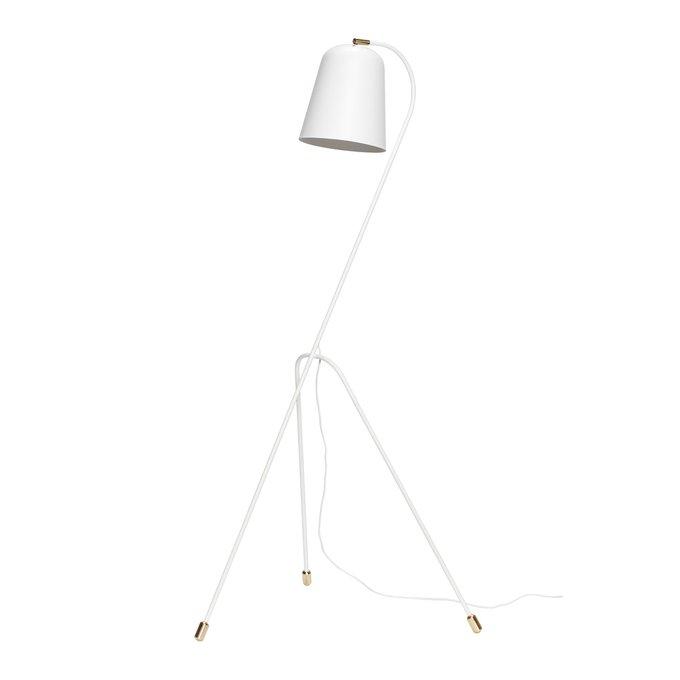 Напольная лампа белого цвета