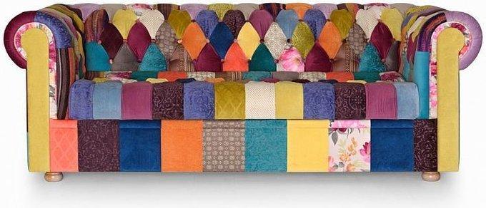 Диван Пэчворк Бергамо с цветной обивкой