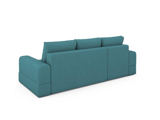 Угловой Диван-кровать Elke левый бирюзового цвета