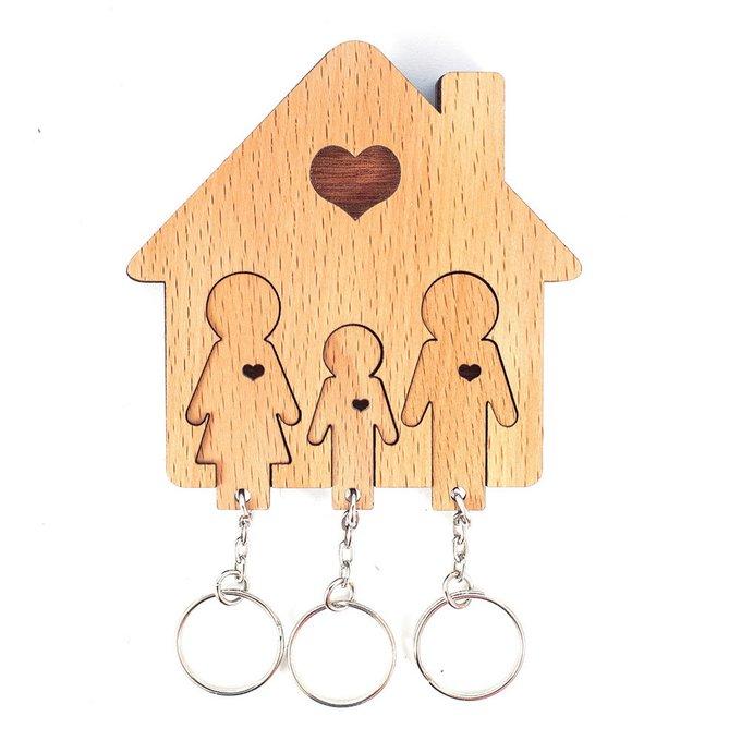 Ключница «семья с сыном»