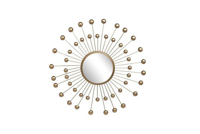 Зеркало декоративное  золотого цвета