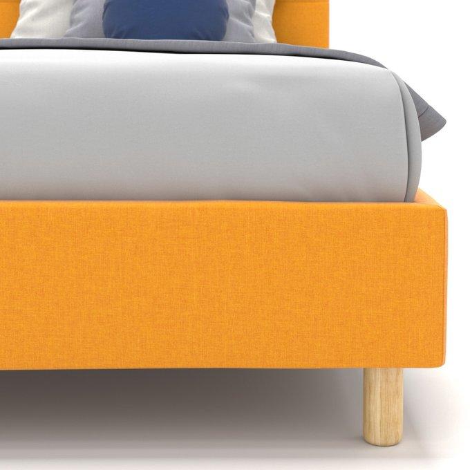 Односпальная кровать Avery желтого цвета 80х160