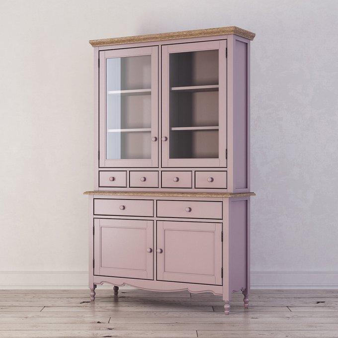 Буфет Leblanc с ящиками и дверцами лавандового цвета