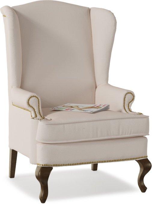 Кресло английское Биг Бен Cream с ушками