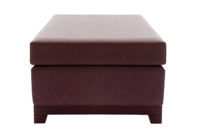 Компактный пуф коричневого цвета