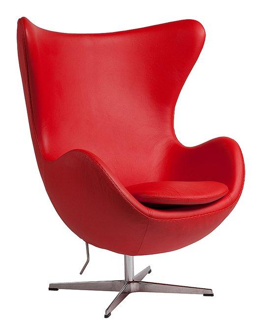 """Кресло """"Egg Chair"""" из натуральной кожи"""
