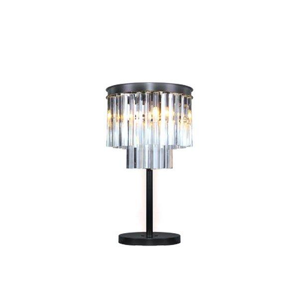 Настольная лампа DeLight Collection из металла и стекла
