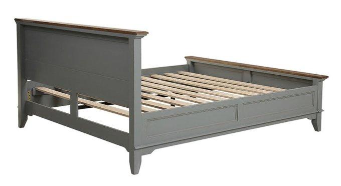 Кровать Директория серого цвета 140х190