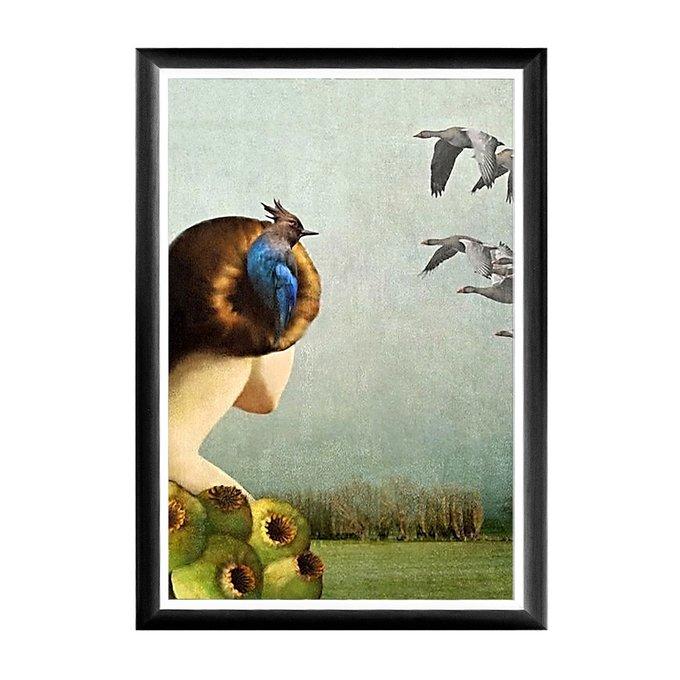 Арт-постер Перелетные птицы в раме из полистирола