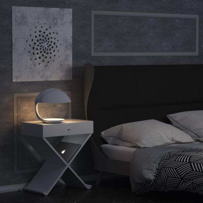 Тумба Bonn в стиле минимализм белого цвета