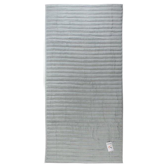 Полотенце банное waves из хлопка серого цвета