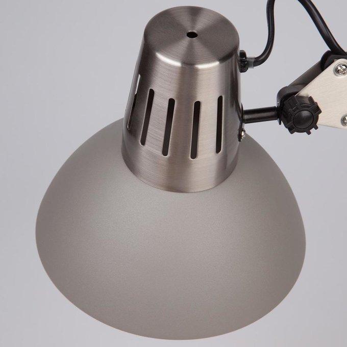 Настольная лампа Worker серого цвета