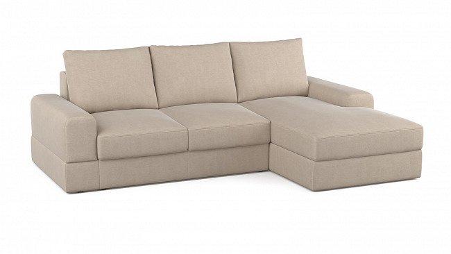 Угловой раскладной диван Elke правый бежевого цвета