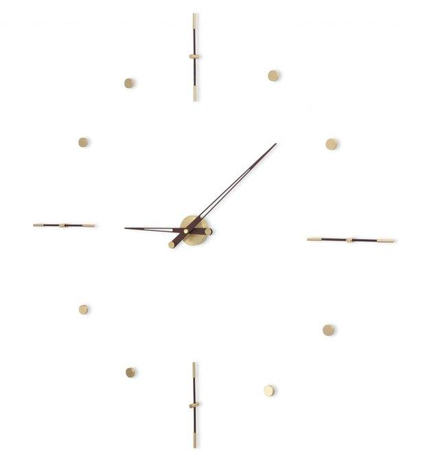 Настенные часы Mixto Gold с деревянными стрелками