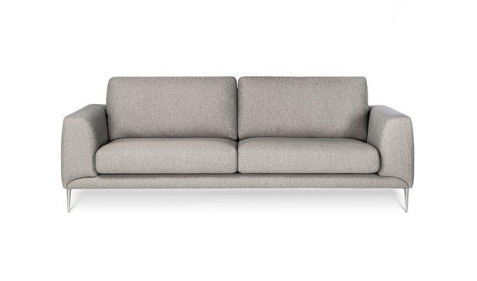 Прямой диван Lorenzo серого цвета