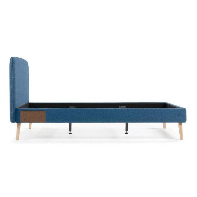 Кровать синяя Julia Grup Lydia 160х200