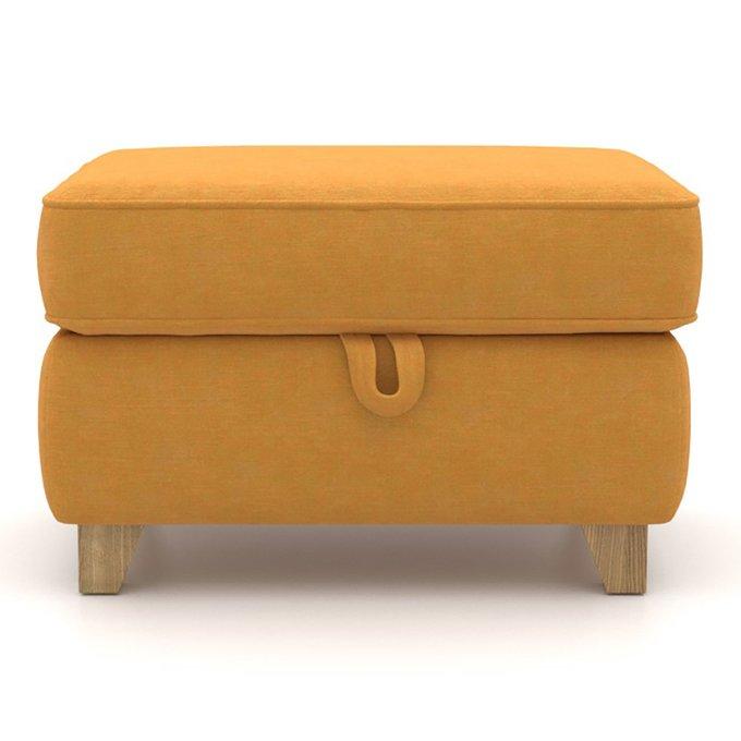 Пуф Halston MT с ящиком желтого цвета