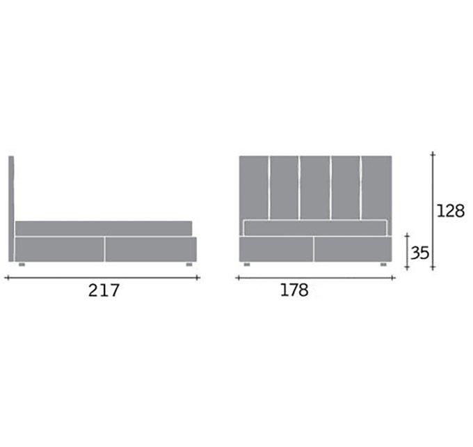 Кровать Argan бежевого цвета 180х200