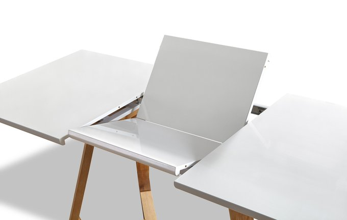 Раскладной обеденный стол Maureen с белой столешницей