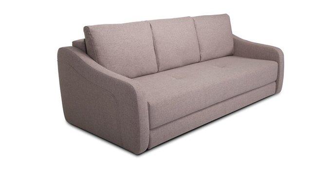 Прямой диван-кровать Иден бежево-коричневого цвета