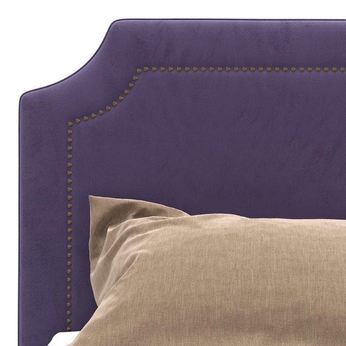 Кровать Kimberly фиолетового цвета на ножках 140х200