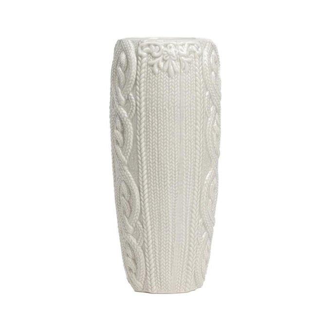 Декоративная керамическая ваза с вязаным узором Lindley