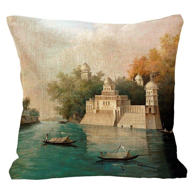 Декоративная подушка Чандрапур с чехлом из хлопка