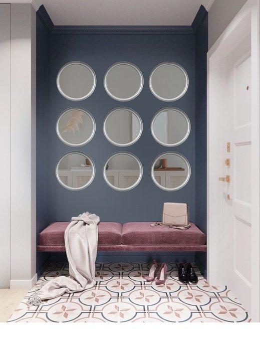 Настенное зеркало Ronda серебряного цвета